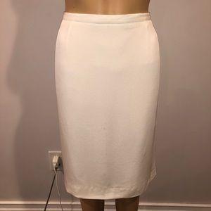 Giorgio Armani le collezioni White pencil skirt